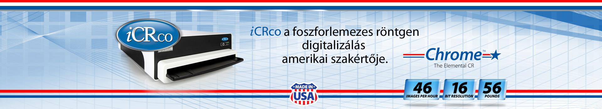 iCRco a foszforlemezes röntgen digitalizálás amerikai szakértője